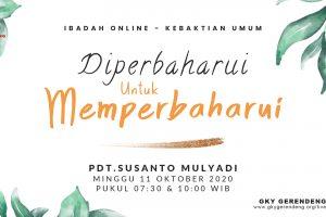 Ibadah Online Kebaktian Umum 11 Oktober 2020