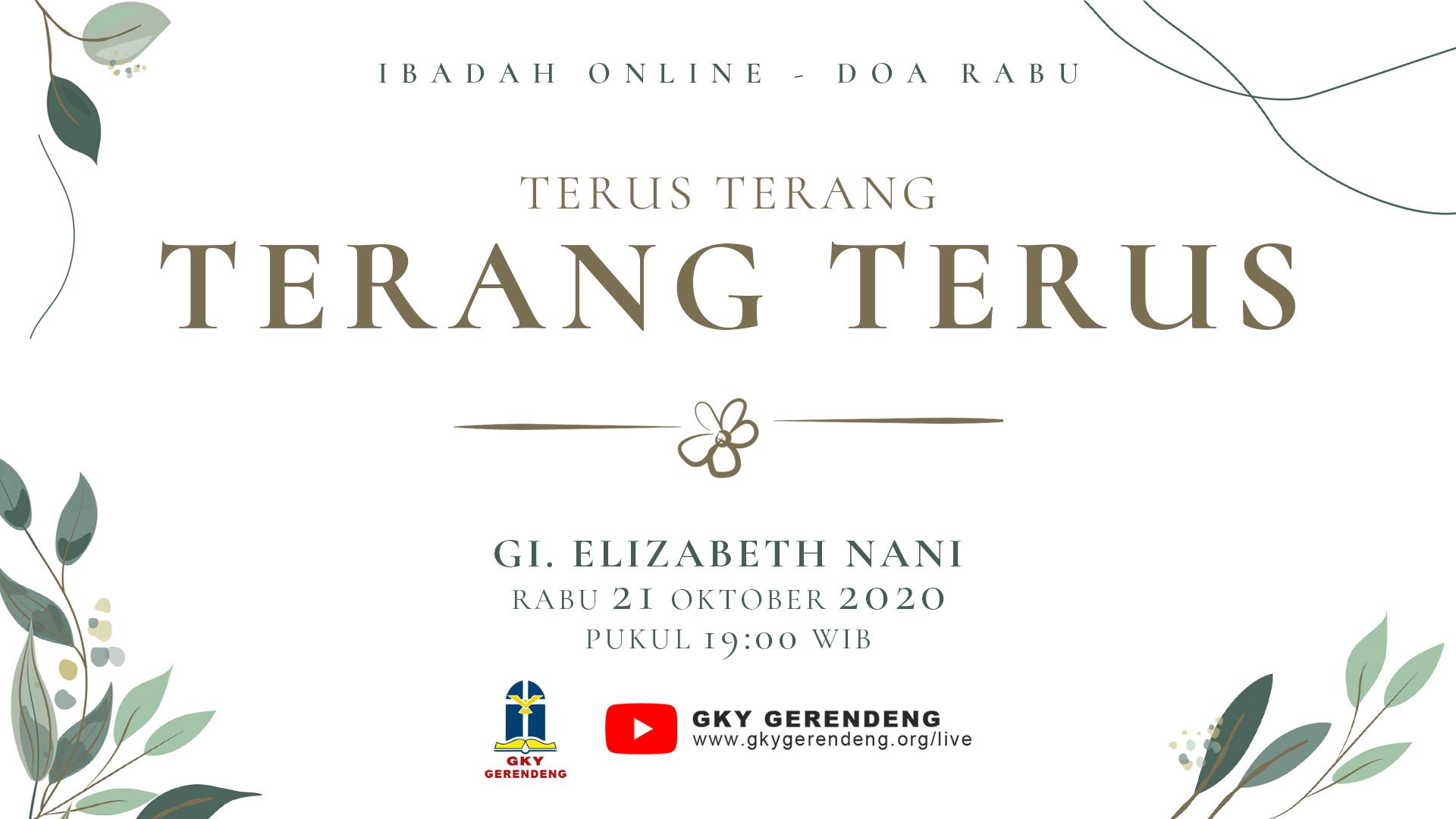 Ibadah Online Doa Rabu