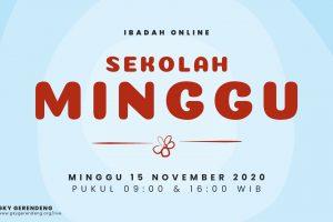 Ibadah Online Sekolah Minggu 15 November 2020