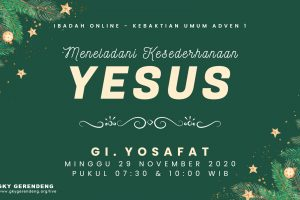 Ibadah Online Kebaktian Umum 29 November 2020