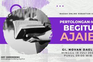 Ibadah Umum Online 18 Juli 2021